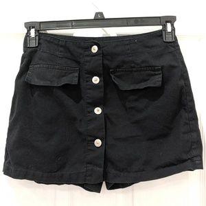 Zana Di Vintage Black Button Up Skort